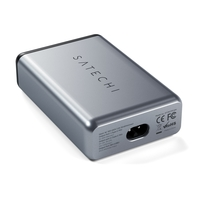 Satechi Dual USB Type-C PD 75W Travel Charger, Space Gray