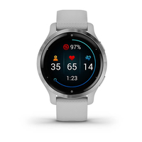 Garmin Venu 2S 40 mm Silver Stainless Steel Bezel with Mist Gray Case and Silicone Band