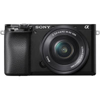 Sony Alpha a6100 Mirrorless Digital Camera with 16-50 mm Power Zoom Lens, Black
