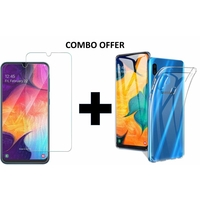 Max & Max STPA10SB Tempered Glass With Back Cover For Samsung A10s