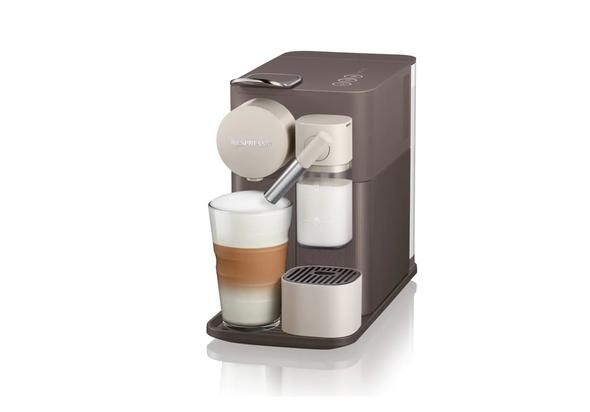 Nespresso F111 Lattissima One Coffee Machine, Mocha Brown