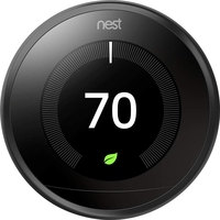 Nest Learning Thermostat,  Mirror Black
