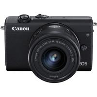 كاميرا كانون EOS M200 الرقمية بدون مرآة مع عدسة 15-45 ملم ، أسود