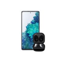 Samsung Galaxy S20 Fan Edition 128GB Smartphone 5G, Lavender with Samsung Galaxy Buds Live Black