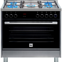 Teka 90x60 cm 5 Burners Full Gas Cooking Range FS3FF L90GG SS, Multifunction Gas Oven, Stainless steel