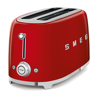 Smeg TSF02RDUK 4 Slice Toaster, Red