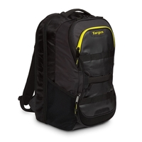"Targus Work+ Play Fitness 15.6"" Laptop Backpack, Black/Yellow"