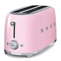 Smeg TSF02PKUK 4 Slice Toaster, Pink