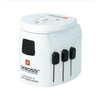 Skross 1302550 PRO Light USB-World Travel adapter White