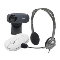 Logitech C310 HD Webcam with Logitech MK270 Wireless Keyboard Bagpack Combo