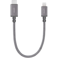 Moshi L-084043 Integra USB-C Charge/Sync Cable with Lightning Connector, 0.25 m - Titanium Gray