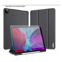 "Max & Max TriFold Smart Folio Case With Pencil Holder For iPad Pro 12.9"" (2020) Black"