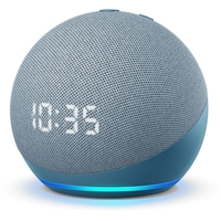 Amazon Echo Dot 4th Gen Smart speaker with clock and Alexa, Twilight Blue