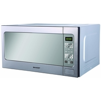 Sharp R562CT 62 Liters Solo Microwave, Silver