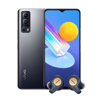 Vivo Y72 8GB, 128GB Smartphone 5G, Graphite Black with Jabra Elite Active 65t Alexa Enabled True Wireless Sports Earbuds, Copper Blue