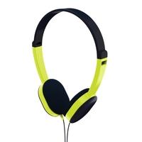"Hama"" Kids"" Headphones, On-Ear, Sound Limiting Technology, Black/Green"