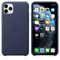 Apple iPhone 11 Pro Max Leather Case, Midnight Blue