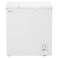 Hisense A+ Chest Freezer 190LTR, keep food for 135 Hours without power, Refrigerator convertible switching function, Easy to clean, Fast freeze, White