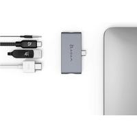 Adam Elements AAPADHUBI4GY USB-C 4-in-1 Hub for iPad Pro, Gray
