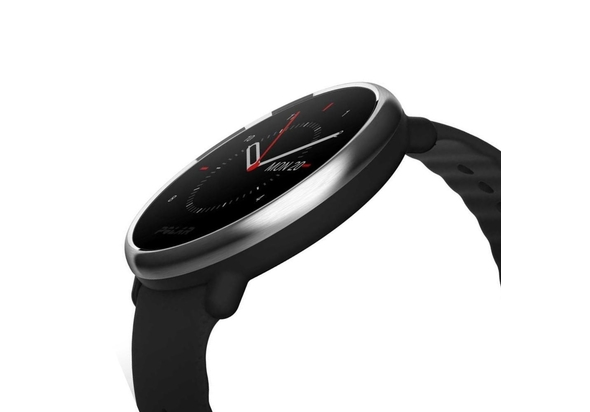 Polar Ignite Fitness Watch with GPS medium/large, Black/Silver