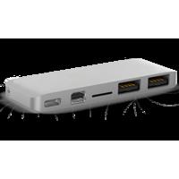 HyperDrive USB-C Hub with Mini DisplayPort, Silver
