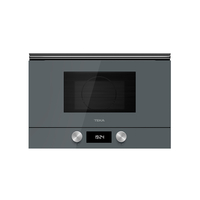 Teka 22 Liters Built-In Microwave with Grill ML 8220 BIS L Stone Grey, 3 Cooking functions, Ceramic base