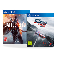 Battlefield 1 with Need for Speed Rivals for PS4