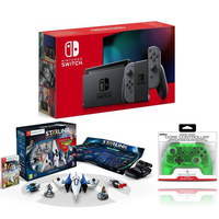 Nintendo Switch Grey+ Starlink Starter Pack+ Nyko Wireless Core Controller