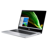 أيسر سبين 1, Intel Celeron N4500,ذاكرة 4 جيجا سعة 128 جيجا , شاشة 14 انش قابلة للتحويل , لون فضي