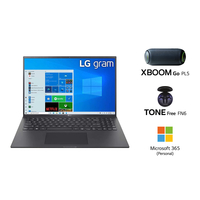 "LG GRAM 16Z90P i7-1165G7, 16GB RAM, 1TB SSD, Intel Iris Xe Graphics, 16"" WQXGA Laptop, Black"