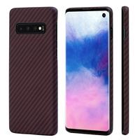 Pitaka MagEZ Case for Samsung Galaxy S10, Black/Red (Twill)