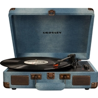 Crosley CR8005D-DE4 Cruiser Deluxe Turntable with Speaker, Denim - CH