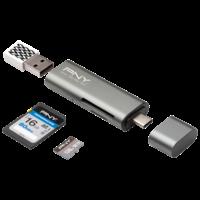 PNY USB-C Card Reader - USB Adapter RTCUA3N1E01RB