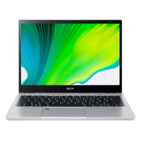"""Acer Spin 3, Core i7-1165G7, 8GB RAM, 512GB SSD, 13.3"""" QDH Convertible Laptop, Silver"""