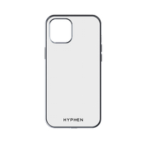 Hyphen Clear Silver Frame Case iPhone 12 - 5.4""