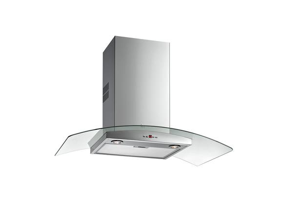 Teka Decorative Glasswing Cook Range Hood 90cm NC 980, 3 speeds+ 1 intensive, Stainless Steel