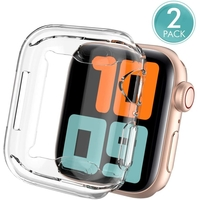 AhaStyle WA05-38MM Fully Protection Premium TPU Apple Watch Cover, Protective Dustproof Case For Apple Watch - Ultra Transparent, 2-Packs, 38MM