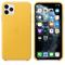 Apple iPhone 11 Pro Max Leather Case, Meyer Lemon