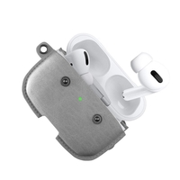 Woodcessories WDC-ECO-345 AirPod Pro Leather Necklace Case, Stone Grey