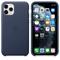 Apple iPhone 11 Pro Leather Case, Midnight Blue