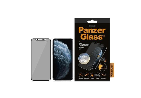 PanzerGlass Apple iPhone X/Xs/11 Pro Black & Case Friendly, CamSlider & Dual Privacy