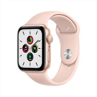 Apple Watch SE GPS+ Cellular, 40mm Gold Aluminium Case with Pink Sand Sport Band