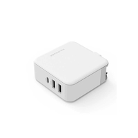 RAVPower 3-Port USB PD Wall Charger 65W+ QC3.0 UK, White
