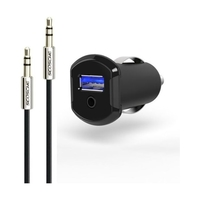 Scosche Strike Drive Charger for Lightning Devices, Black