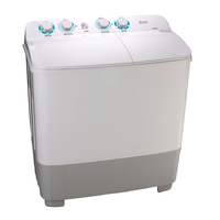 Hisense Twin Tub Washing Machine 9 KG Wash Capacity: 10Kg, Spin Capacity: 6Kg 1250 RPM, White & Black
