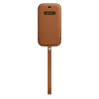 Apple iPhone 12  12 Pro Leather Sleeve with MagSafe, Saddle Brown
