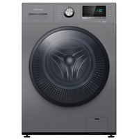 Hisense A+ + Free standing 8/5 KG front load washer Dryer1400 RPM N, Premium Titanium color, Snowflake Drum.