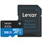Lexar 128GB High-Performance 633x microSDXC UHS-I Memory Card with Adapter