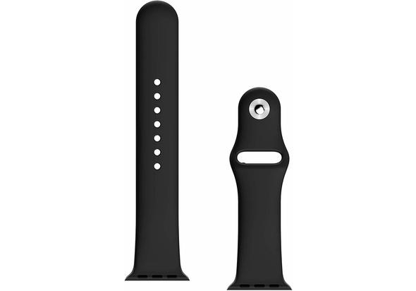 BeHello Premium Apple Watch Silicone Strap 38/40mm, Black