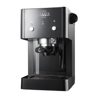 Gaggia Gran Style Manual Pump Espresso Machine 15 Bar Pressure, Black